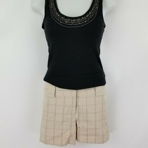 Express Beige Pinstripes Dress Shorts Pants 8